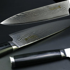 Santoku Chef Knife (Damascus Blade)