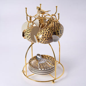 Leopard Print Bone China Porcelain Set
