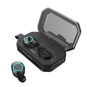 [Bluetooth 5.0 & IP7 Waterproof]The NEWEST TWS Earbuds Headset Dual Mic with Charger