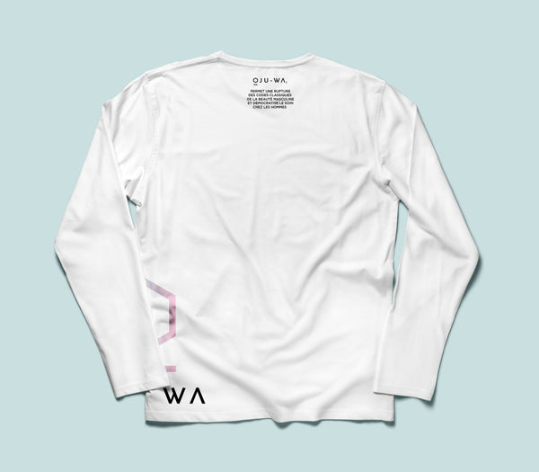 White Oju-Wa Long Sleeve T-Shirt