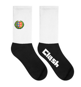 Clash Royale Crest Style Black Foot Socks