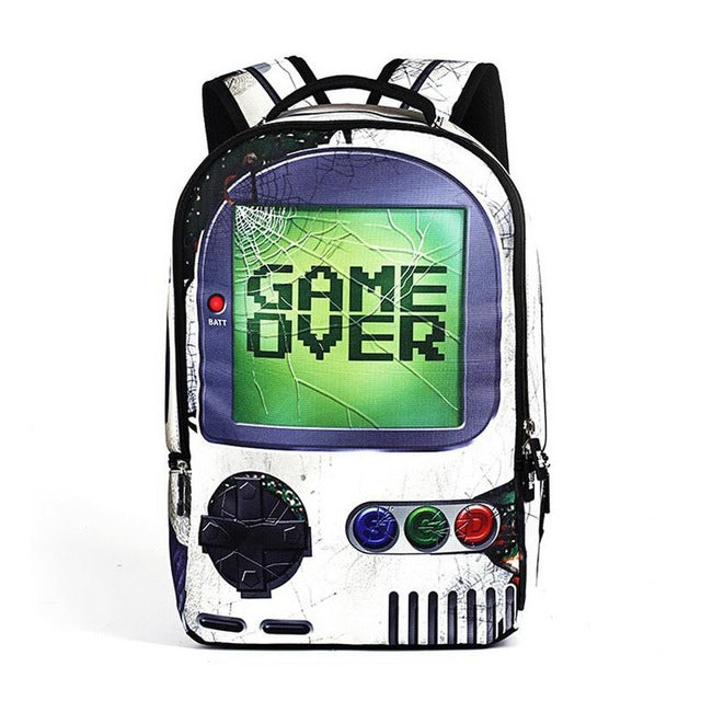 GAME OVER Playstation Style Backpack