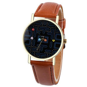 Pacman Style Chronograph Quartz Watch