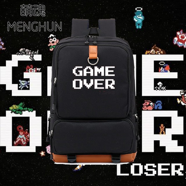 GAME OVER High Capacity Retro Gamer Backpack