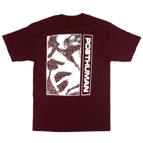 SHADOWS TEE - BURGUNDY