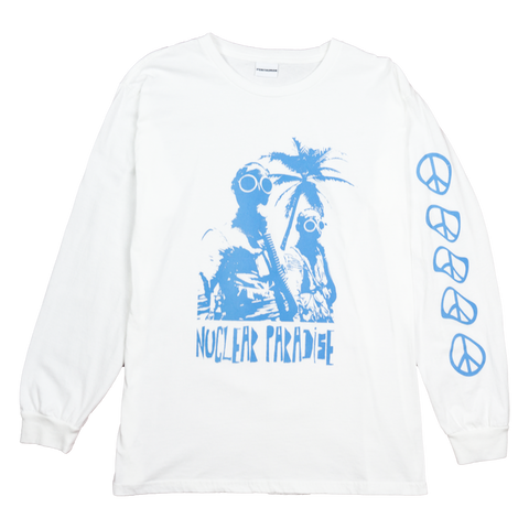 NUCLEAR PARADISE L/S TEE - WHITE