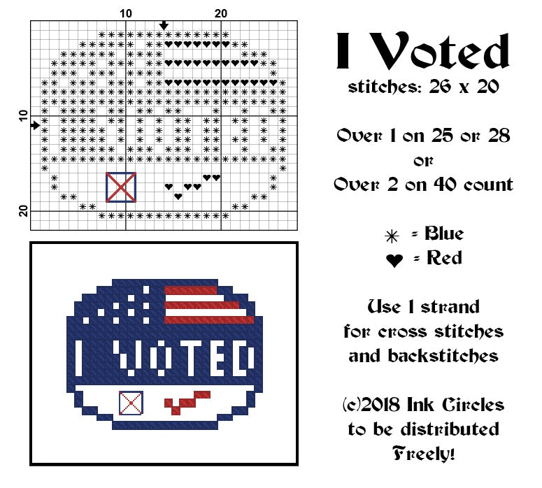 Stitchers Count - So Does Your Vote