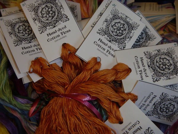 Hand-Dyed Floss - Orange #1