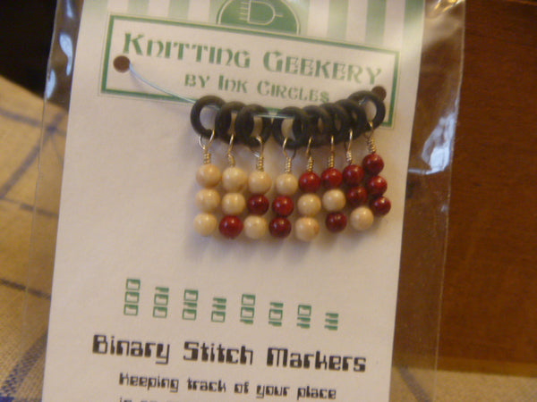 Stitch Markers for Knitting - Binary