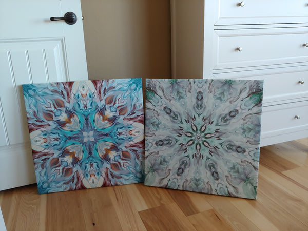 Mandala Painting #5 (Frost Flowers)