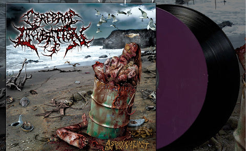 Cerebral Incubation - Asphyxiating On Excrement (Deep Purple Vinyl)