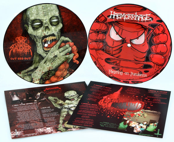 "Haemorrhage / Nunslaughter - Split (7"" Picture Disc)"