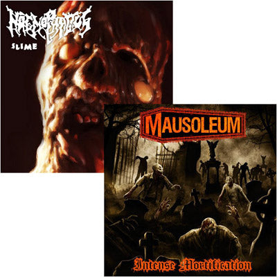 Haemophagus / Mausoleum - Slime - Intense Mortification Split (Vinyl)