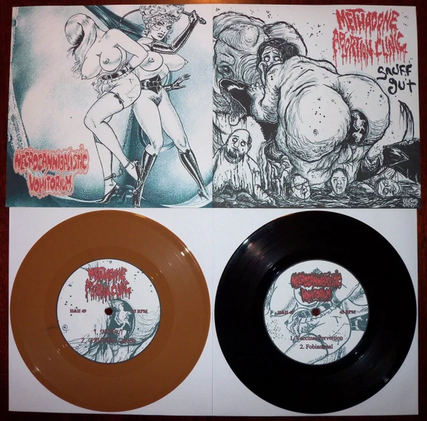 Methadone Abortion Clinic / Necrocannibalistic Vomitorium - Split (Vinyl)