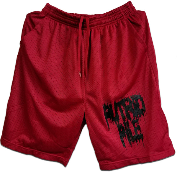 Putrid Pile - Red Shorts (Shorts)