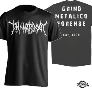Thanatology - Logo / White (T-Shirt)