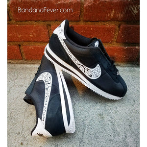 Custom Bandana Nike Cortez Shoes
