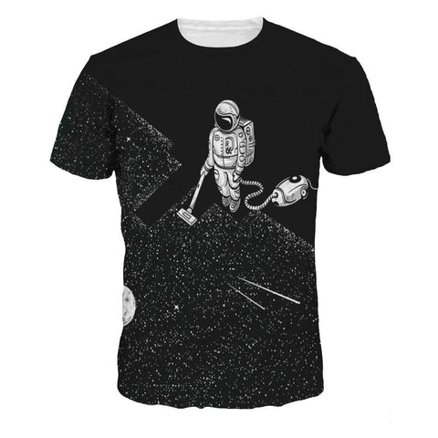 Astronaut Cleaning Space T-Shirt