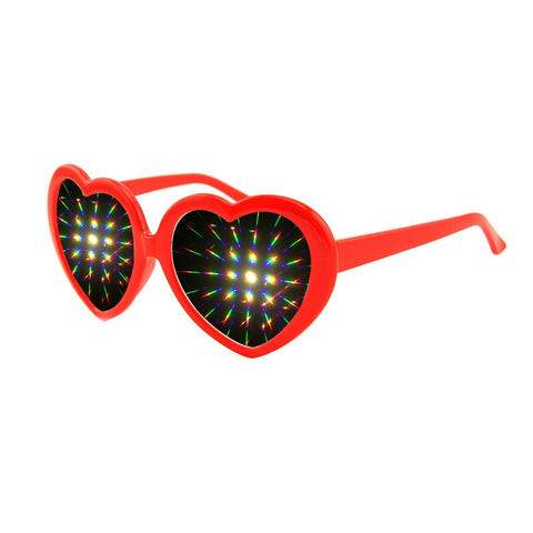 Heart Frame Diffraction Rave Glasses - Trippyverse