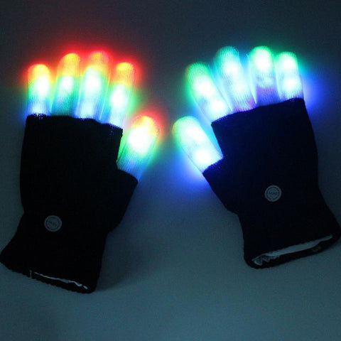 Finger LED Rave Gloves - Trippyverse