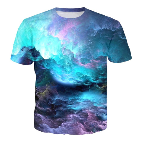 A Deep Space Dawn Trippy T-Shirt - Trippyverse