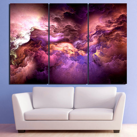 Cosmic Love Abstract Psychedelic HD Nebula Canvas Art - Trippyverse