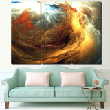 Cosmic Flames Abstract Psychedelic HD Nebula Canvas Art - Trippyverse