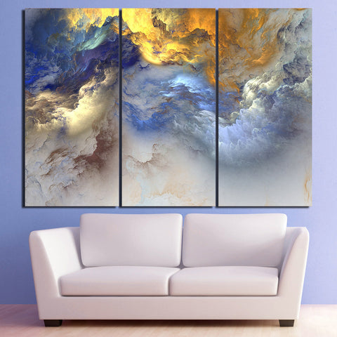 Cosmic Heavens Abstract Psychedelic HD Nebula Canvas Art