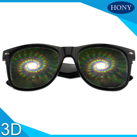 Premium Spiral Diffraction Rave Glasses