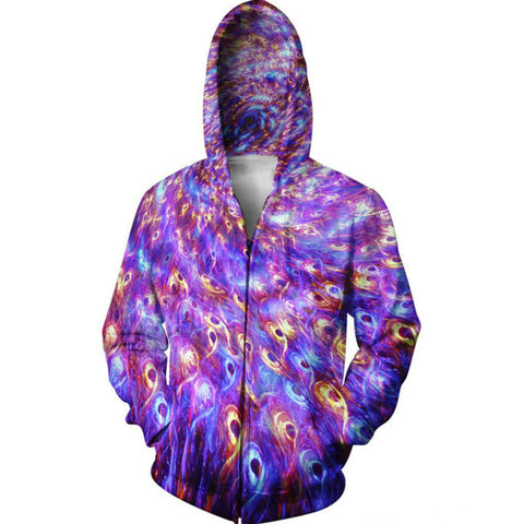 Peacock Tripping Premium Psychedelic Hoodie