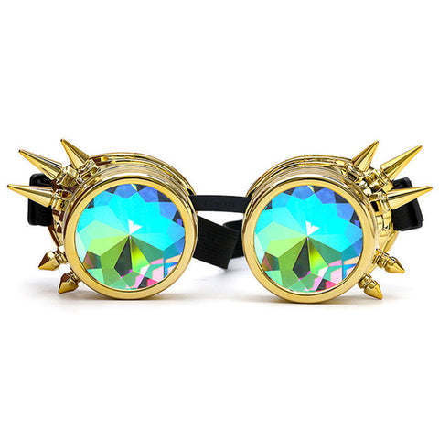 Psychedelic Spiked Kaleidoscope Goggles - Trippyverse