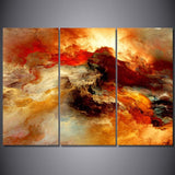 Cosmic Flames Abstract Psychedelic HD Nebula Canvas Art