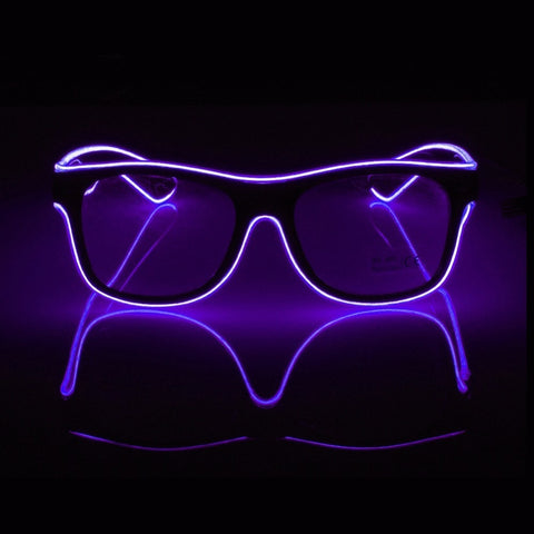 Trippy Electric LED Rave Glasses