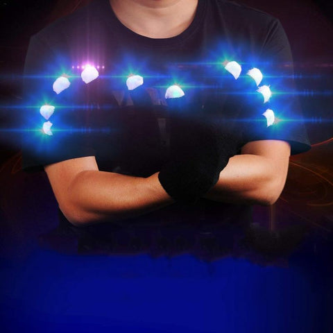 Fingertip LED Rave Gloves - Trippyverse