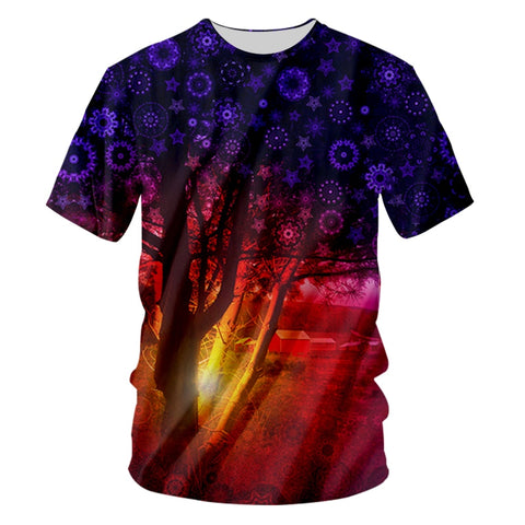 Midnight Tree Trippy T-Shirt - Trippyverse