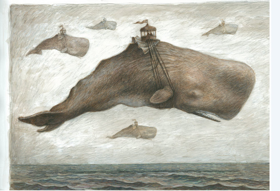 Giclée print - Flying Whale 'Curious Fate of the Band Rotunda'