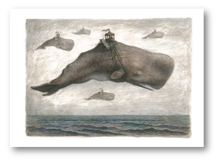 Card 4- Set of 6 Flying whales