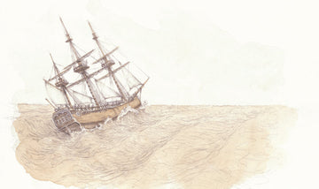 Giclée print - First Map 'Endeavour in Gale'