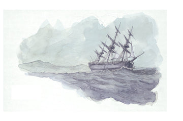Giclée print - First Map 'Endeavour off Cape Saunders'
