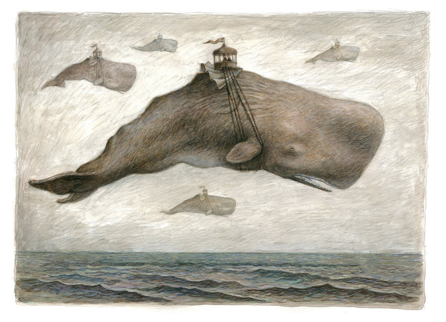 Print 1 - Flying Whale 'Curious Fate of the Band Rotunda'
