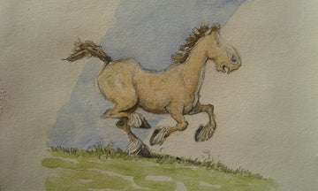 Original Art - 'Henry's Map' heavy horse