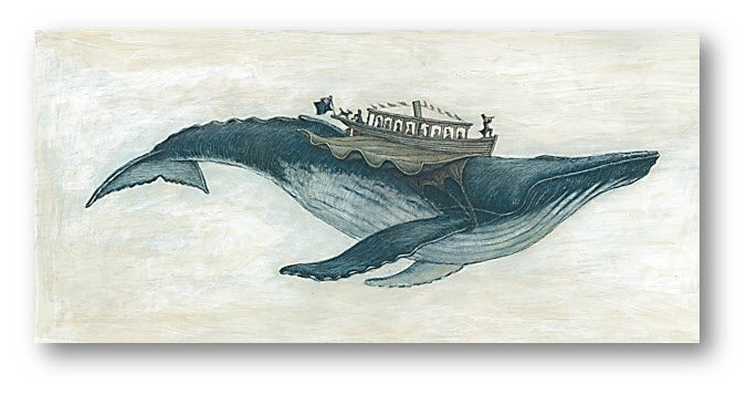 Card 2 - Flying Humpback Whale (colour)