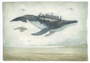 Print 1 - Flying Humpback Whale with Sea and Sky
