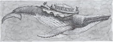 Flying Humpback Whale Study - original art