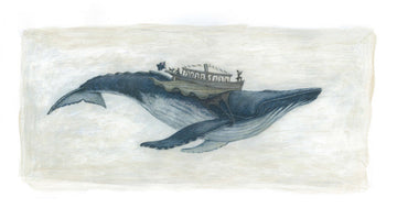 Flying Humpback Whale giclée print
