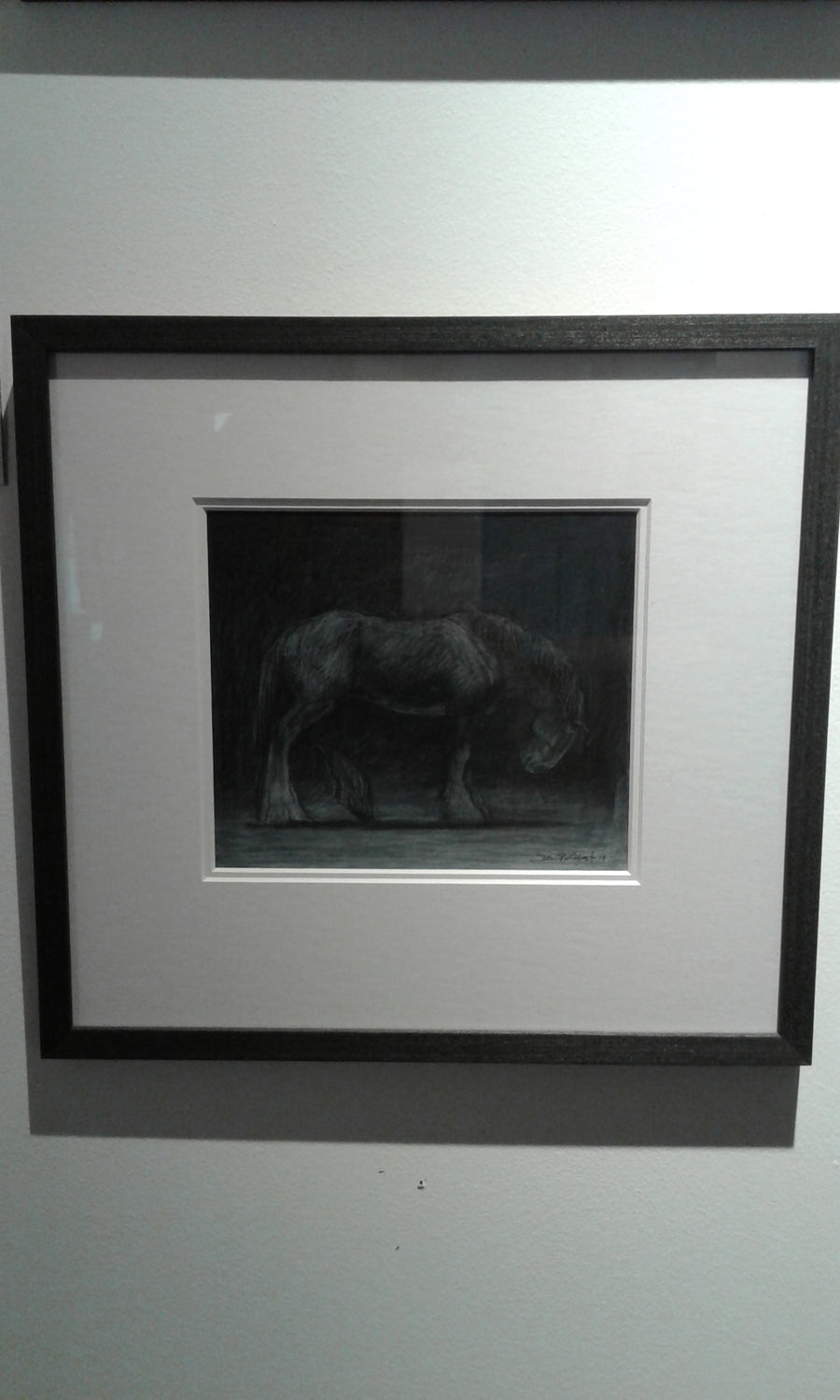 Night shadows (heavy horse) - framed original art