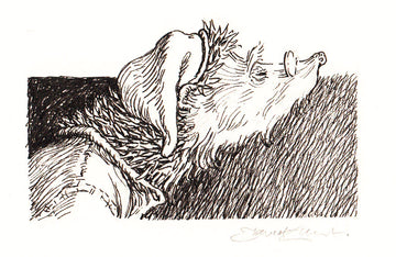 Redwall Rakkety Tam - 'sleepy Abbot Humble' original art