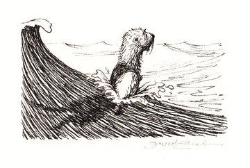 Redwall Rakkety Tam - 'Arlow the sea otter in the open sea' original art