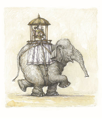 Print 2 - Sir Lionel Hargreaves with his Elephant Stephen