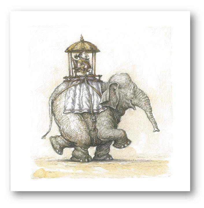 Card 3 - Sir Lionel Hargreaves with his Elephant Stephen